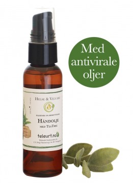 Håndolje med Tea Tree, 60ml m/pumpe